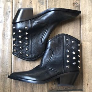Marc Fisher studded western style boots black 6.5